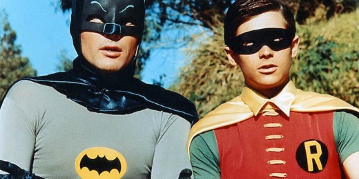 Adam West as Batman, Burt Ward as Robin