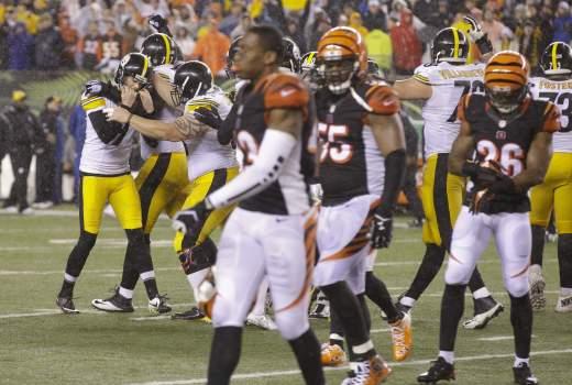 Pittsburgh Steelers celebrate Wild Card win over Cincinnati Bengals