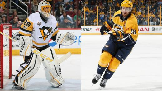 Marc-Andre Fleury and James Neal